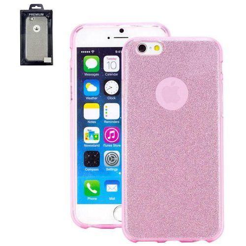 Perlecom Pokrowiec na tył iphone  4260481642519, pasuje do modelu telefonu: apple iphone 7, różowy, efekt brokatu
