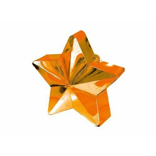 Obciążnik ciężarek do balonów napełnionych helem - Gwiazda pomarańczowa - 170 g. (0048419246817)