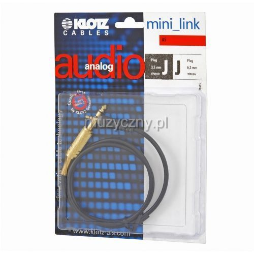 Klotz AS MJ 0030 kabel TRS / mini TRS 0,3m