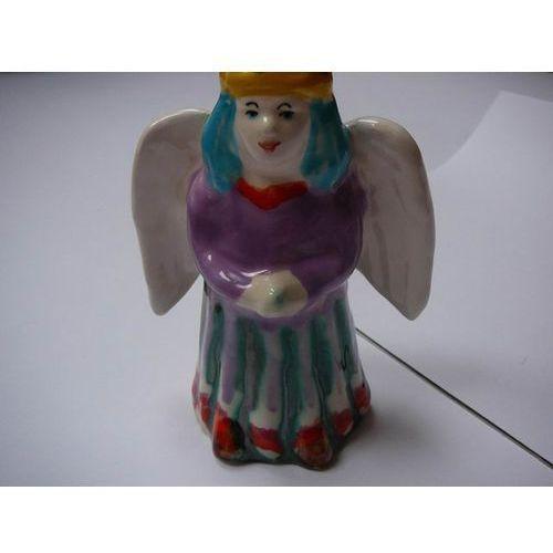 Anioł - ceramiczna figura, wys. 17 cm