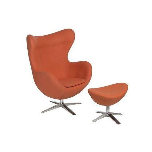 Fotel Jajo szeroki z podnóżkiem tkanina JA-2717 (pomarańczowy) D2, 82870