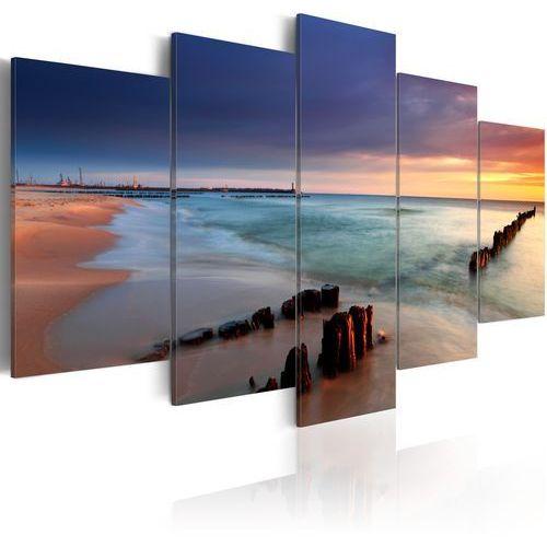 Obraz - Wschód słońca nad brzegiem morza