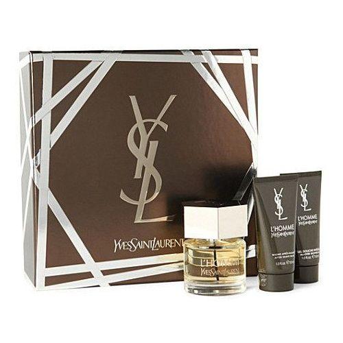l homme m zestaw perfum edt 60ml + 50ml balsam po goleniu + 50ml żel pod prysznic marki Yves saint laurent