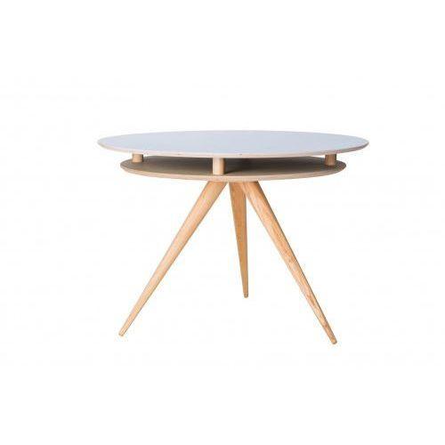 Ragaba Stół drewniany okrągły triad - kolor niebieski