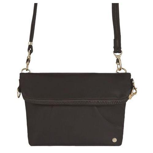 Składana torebka damska antykradzieżowa Pacsafe Citysafe CX Convertible czarny - Czarny, kolor Czarny
