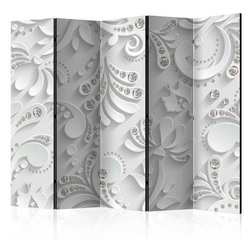 Parawan 5-częściowy - kwiaty w kryształy ii [room dividers] marki Artgeist