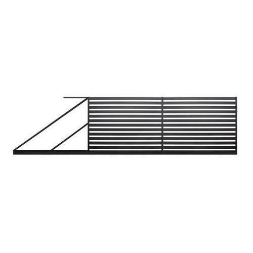 Polbram steel group Brama przesuwna lara 2 lewa 4 x 1,54 m czarna