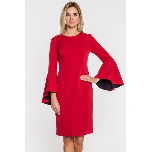 9e9bc0134bfe2c Czerwona sukienka z szerokim rękawem w hiszpańskim stylu - marki Metafora