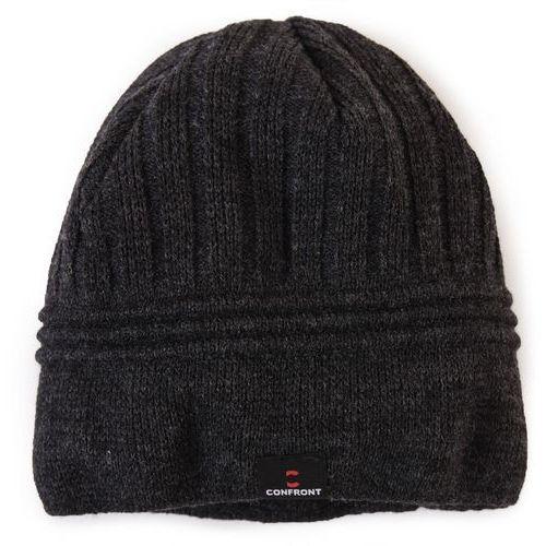 czapka zimowa logan grey 133, marki Confront
