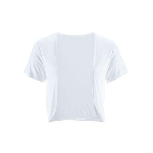 Bolerko shirtowe bonprix biały, kolor biały