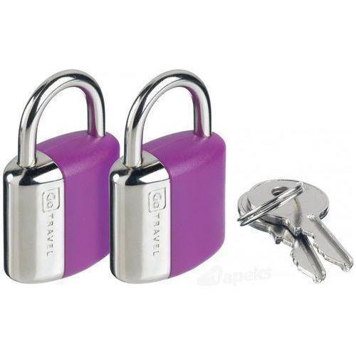 dg/708 kłódka stalowa x2 - fioletowy marki Go travel