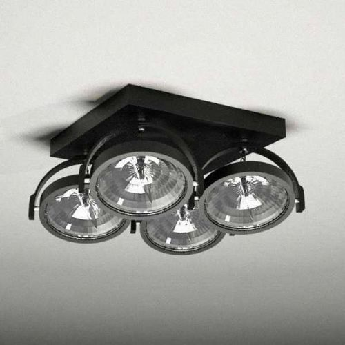 Plafon LAMPA sufitowa SAKURA 2237/G53/CZ Shilo reflektorowa OPRAWA ruchoma czarny, 2237/G53/CZ