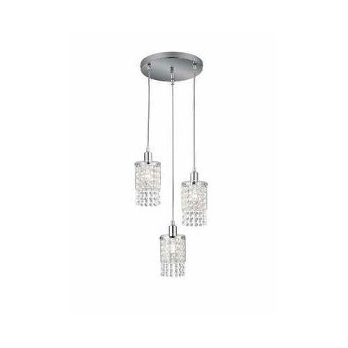 Trio RL Posh R30763906 lampa wisząca zwis 3x10W E14 chrom / transparentny (4017807441512)