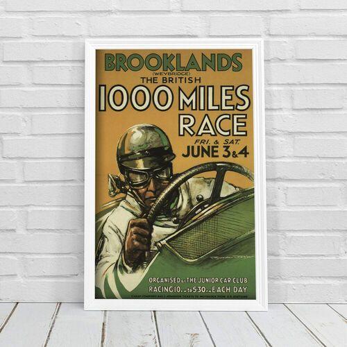 Plakat vintage Plakat vintage Grand Prix plakat Brooklands The British Miles Race