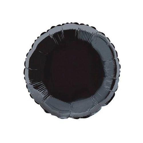 Unique Balon foliowy okrągły czarny - 47 cm - 1 szt. (0011179529285)