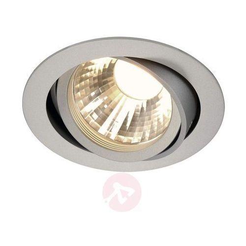 NEW TRIA LED DISK, pierść. mont. okrągły, srebrny,2700K,35°