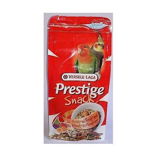 prestige snack parakeets 125g przysmak z biszkoptami i owocami dla średnich papug marki Versele-laga