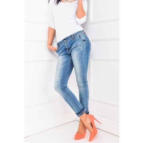 Jeansowe rurki na guziki marki Zoio