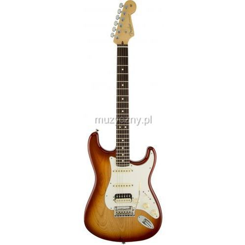 Fender American Stratocaster HSS Shaw RW Bordeaux Metallic, podstrunnica palisandrowa