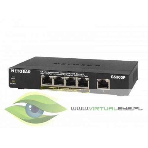 Gs305p switch 5xgbe (4xpoe) marki Netgear