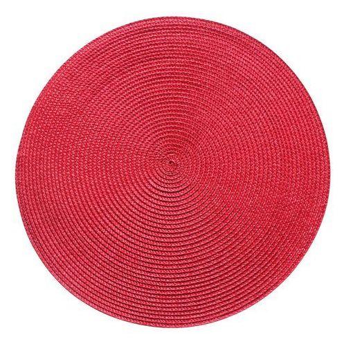 Podkładka na stół SPLOT okrągła śr. 38 cm czerwona
