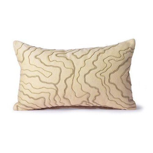 Hkliving poduszka z przeszyciami kremowa (30x50) tku2098