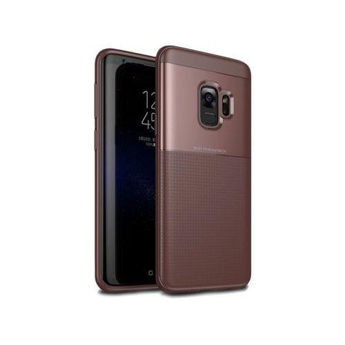 Etui Alogy Toraise Samsung Galaxy S9 brązowe + Szkło - Brązowy