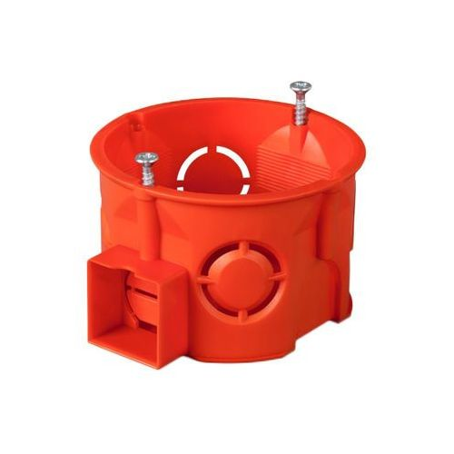 Puszka podtynkowa 60mm z wkrętami czerwona pk-60 pro 0281-01 marki Elektro-plast nasielsk
