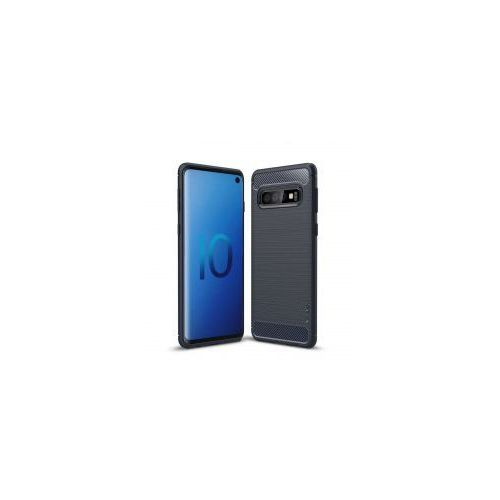 iPaky Slim Carbon elastyczne etui pokrowiec Samsung Galaxy S10 Plus niebieski (7426825365255)