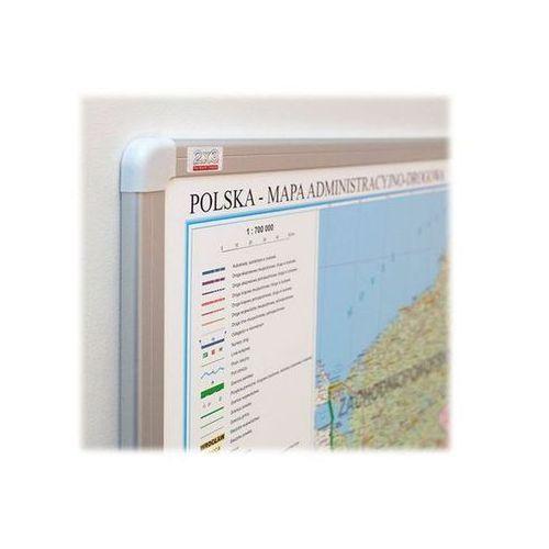 mapa polski administracyjna magnetyczna 1:700 000, 102x120 cm marki 2x3