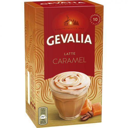 Gevalia latte caramel - kawa cappuccino - saszetki - 10x15g (dawniej gevalia daim) (8711000444924)