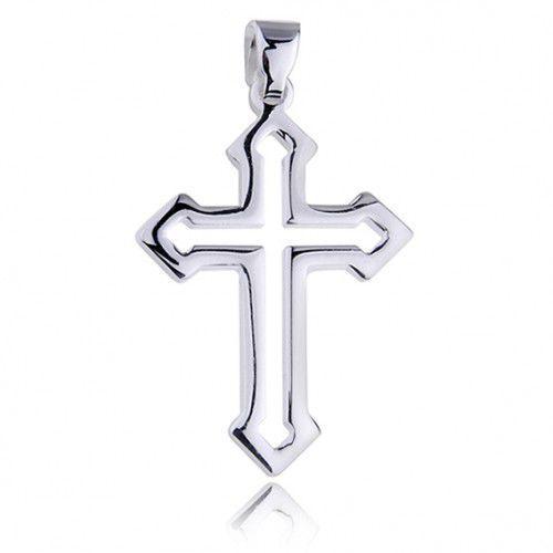 Produkt polski Krzyżyk srebrny z połyskiem, pr.925.