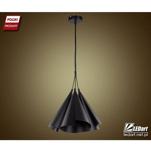 Lampa wisząca Sigma Emu 3 czarny metal dekoracyjna, kolor Czarny