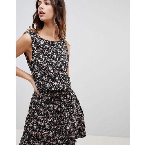Y.A.S Flowa Rush Dress - Black, kolor czarny