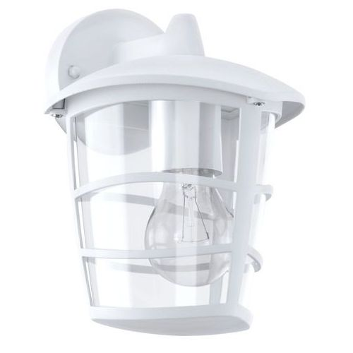 Kinkiet aloria 93095 ogrodowy lampa ścienna dół 1x60w e27 ip44 biały marki Eglo