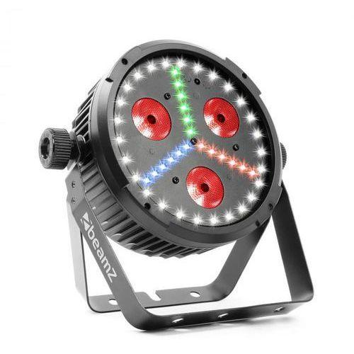 BX30 PAR Projektor LED 3 x dioda LED 10 W 4w1, 27x dioda LED SMD W, 18x dioda LED SMD RBG kolor czarny