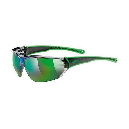 OKULARY SPORTOWE UVEX SPORTSTYLE 204 BLACK/GREEN duże soczewki