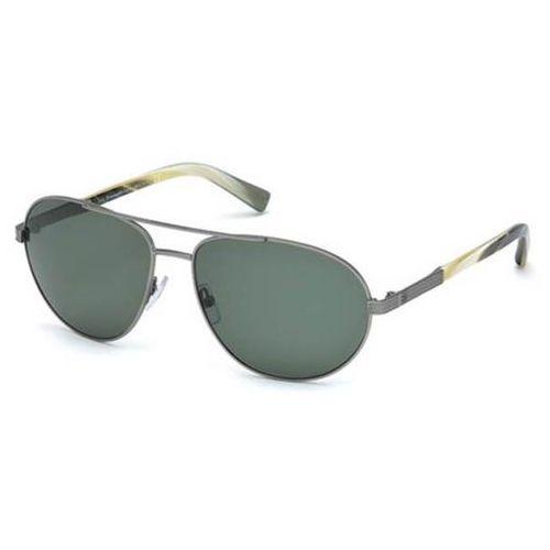 Okulary Słoneczne Ermenegildo Zegna EZ0011 Polarized 12R, kolor żółty