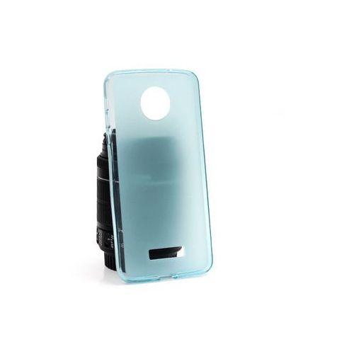 Lenovo Moto Z - etui na telefon FLEXmat Case - niebieski, kolor niebieski
