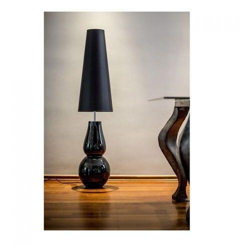 Milano Black Podłogowa 137cm 4Concepts L202081804 czarny biały