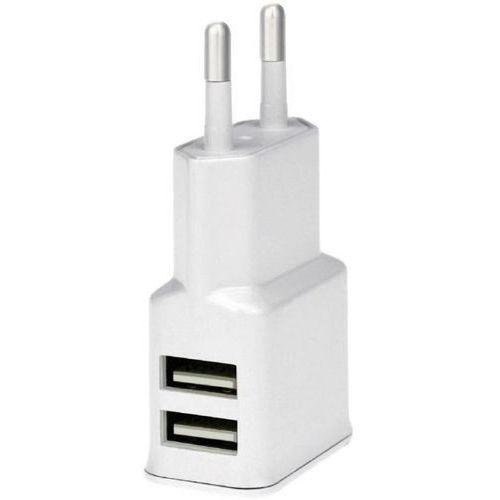 Ładowarka sieciowa WG Dual USB (2,4A) Biały (8591194062087)