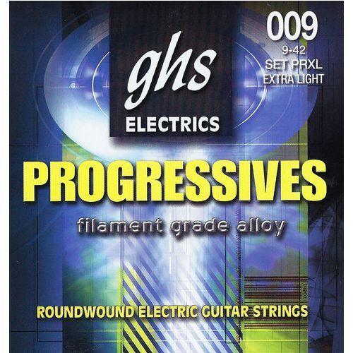 progressives struny do gitary elektrycznej, extra light,.009-.042 marki Ghs