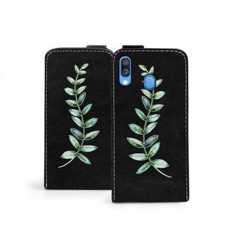 Samsung Galaxy A40 - etui na telefon Flip Fantastic - zielona gałązka