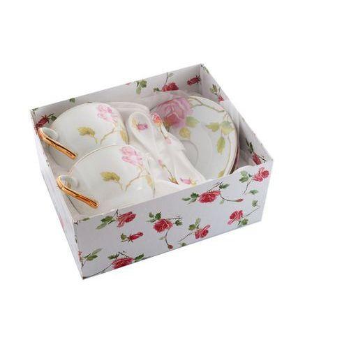 2 filiżanki z porcelany róża na prezent walentynki marki Fusaichi pegasus