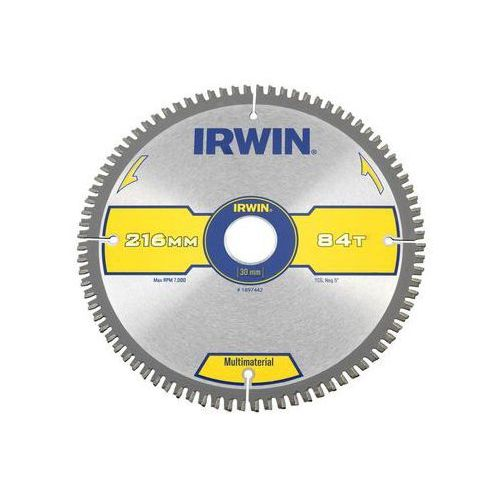 Irwin multimaterial Tarcza do pilarki tarczowej 216mm/84t/30 śr. 216 mm 84 z