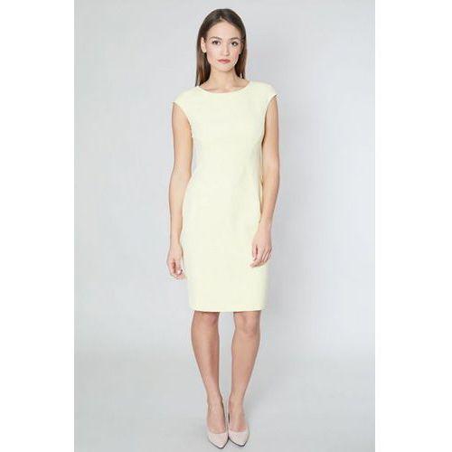 Click fashion Sukienka model talita 10521 yellow