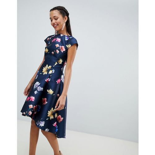 18bb321cdd floral printed skater dress with cap sle... Producent Chi Chi London ...