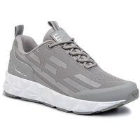 Sneakersy EA7 EMPORIO ARMANI - X8X033 XCC52 M530 Neutral Grey/Silver, kolor szary