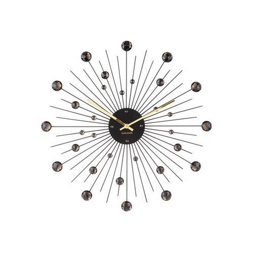 Zegar ścienny Sunburst Crystal black by Karlsson