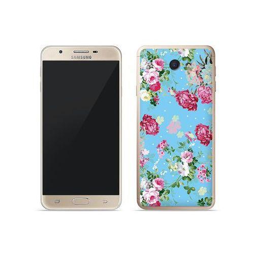 Samsung Galaxy J7 Prime - etui na telefon Fantastic Case - różyczki na miętowym tle